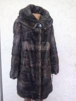 Норковая шуба шубка полушубок куртка трансформер капюшон 44-46р графит