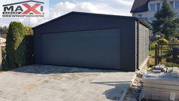 Garaż blaszak 6x6,brama automatyczna,akryl, drewnopodobny,z profila