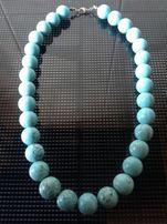 Бирюза натуральная. Ожерелье.