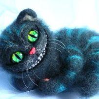 Чеширский кот.Интерьерная игрушка. Сухое валяние.Алиса в стране чудес.