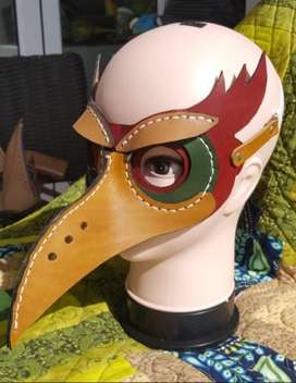 Leather Bird Mask, Cosplay (order yours today!)