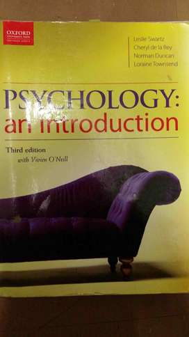 Psychology: an introduction (Oxford) Textbook - Third edition
