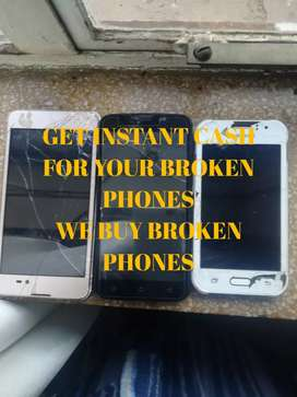 We buy Broken phones. Samsung, Huawei, & Sony