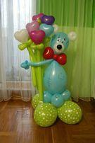 Фигуры из воздушных шаров, колонны, арки. Гелиевые шары. Фотозона.