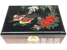 Шкатулка для украшений Уточки мандаринки Подарок на свадьбу