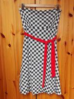 Letnia sukienka AMISU w kratkę