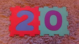 Puzzle piankowe podłogowe mata 20 sztuk cyfry