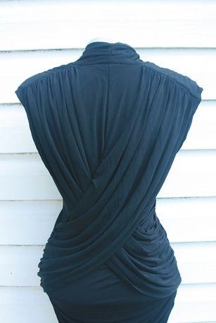 czarna elegancka dopasowana sexy sukienka french connection Sławno - image 5