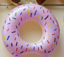 ciacho oponka koło do pływania ciastko na basen na plaże MAŁE różowe