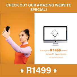 Amazing Website Design Special R1499!