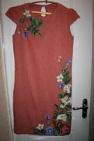 Вышитое (вышиванка) платье бисером,ручная робота.Новое!