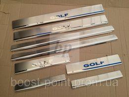 Хром накладки на пороги volkswagen golf 4,5,6,7 (фольксваген гольф)