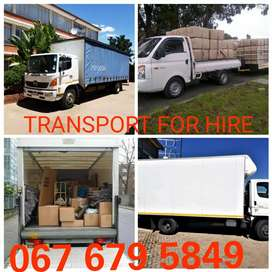 Transport available for hire furniture and rubble