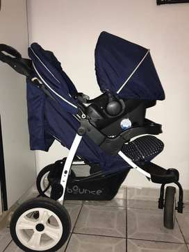 Baby pram with car seat