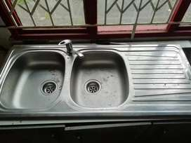 Double Bowl Sink and Mixer