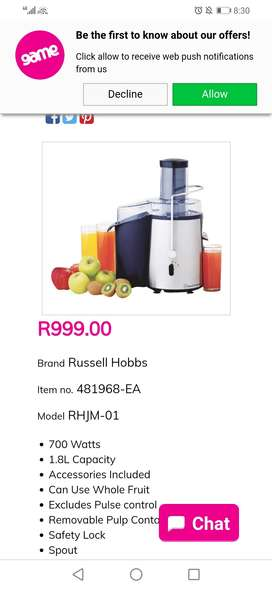 Russell hobs juicer