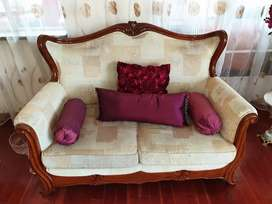 Rosewood imported 3 piece hand carved lounge auite