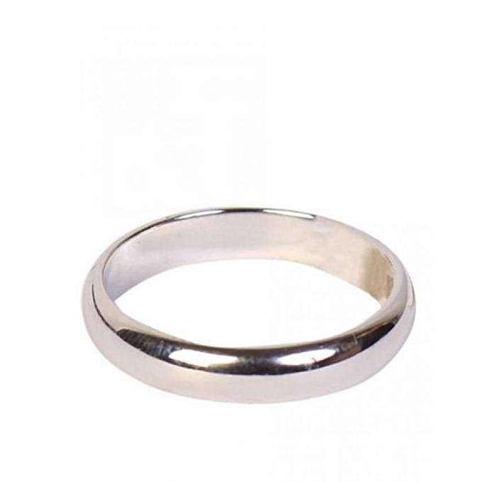timeless steel engagement ring silver 0