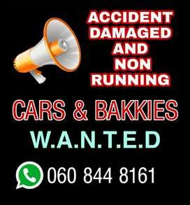 Accident damaged and non running cars wanted here.