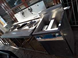 gas cooker with frier