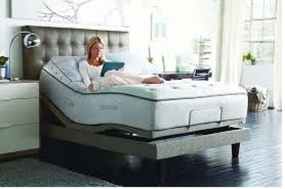 Sealy S300 single size electric motor adjustable bed with remote 0