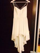 Biała piękna nowa sukienka, rozmiar s/m