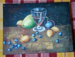 Obraz olejny na płótnie-owoce