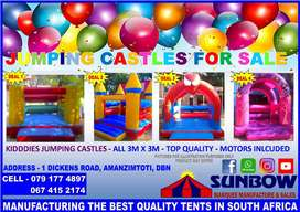 JUMPING CASTLES FOR SALE - SUNBOW TENTS MANUFACTURE