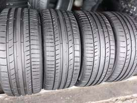 A set of tyres for vw golf 7 sizes 235/35/19 continental normal now