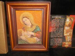 икона Божей Матери с янтаря новая
