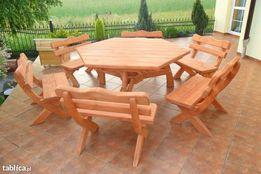 Komplet meble ogrodowe zestaw ogrodowy stół SZEŚCIOKĄT taniej o 200zł