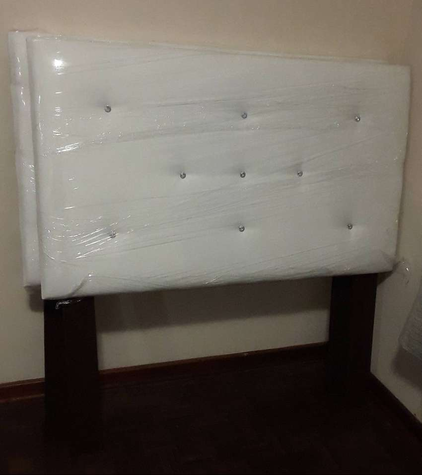 2 x White Double Bed Headboards 0