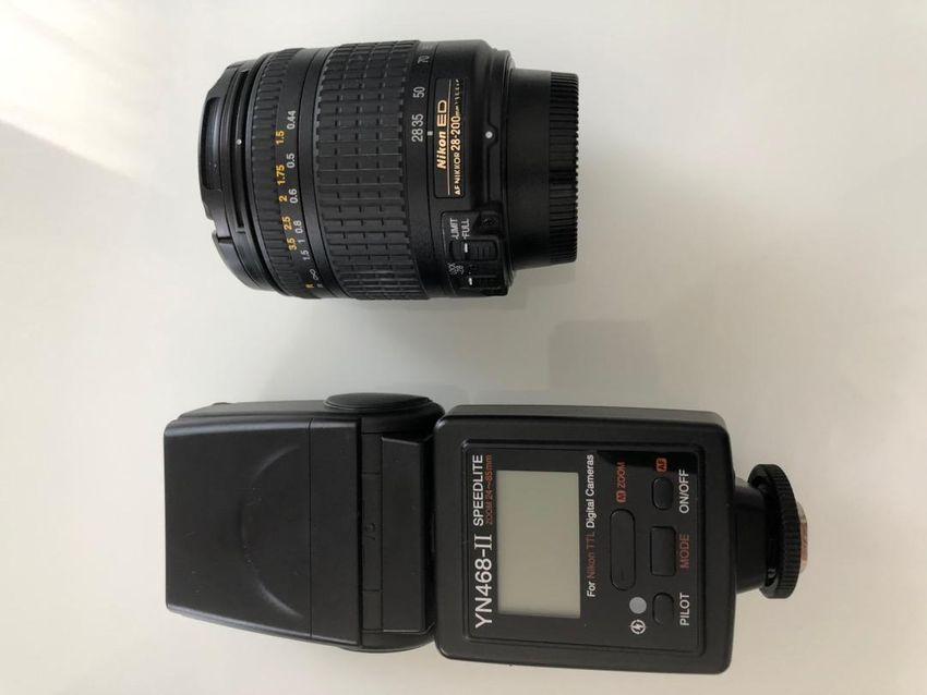Nikon ED AF 28-200 mm 3.5-5.6G + Blesk Yongnuo YN468-II 0