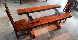 DINING TABLE - Rare IRONWOOD - MODERN Style