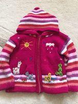 Теплая вязанная кофта для малышки