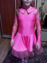 Бейсик для танцев рост 104-116см бейзик платье для танцев танцевальное