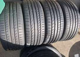A set of 225/40/18 Run flat continental tyres for sale