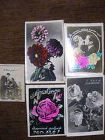 кустарные винтажные фото-открытки СССР китч