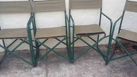 Camping chairs and table