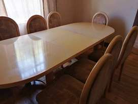 8 seater dining room suite with sideboard