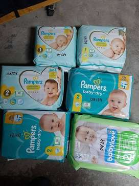 Pampers, Diapers , Babylove , Huggies , Wet Wipes,Diaper Bags,Baby Pad
