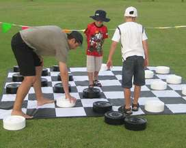 Giant Checkers / Draughts For Hire
