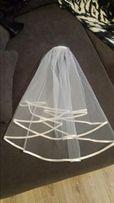 Welon ślubny : ecru(nowy25 zł),biały(założony raz 20zł)