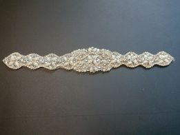 Alipacja ślubna z perełkami i diamentami
