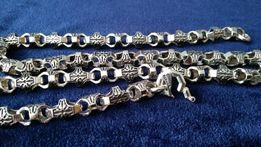 массивная цепь серебро 925 BARAKA