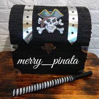 Пиньята пиратский сундук сокровищ