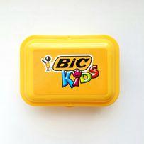 Новый жёлтый ланчбокс для бутербродов bic из пищевого пластика