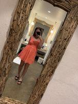 Sukienka neonowa różowa XS ginatricot zara h&m różowa wakacyjna mini