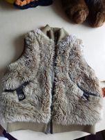 Бомбический стильный меховой жилет Некст (Next)