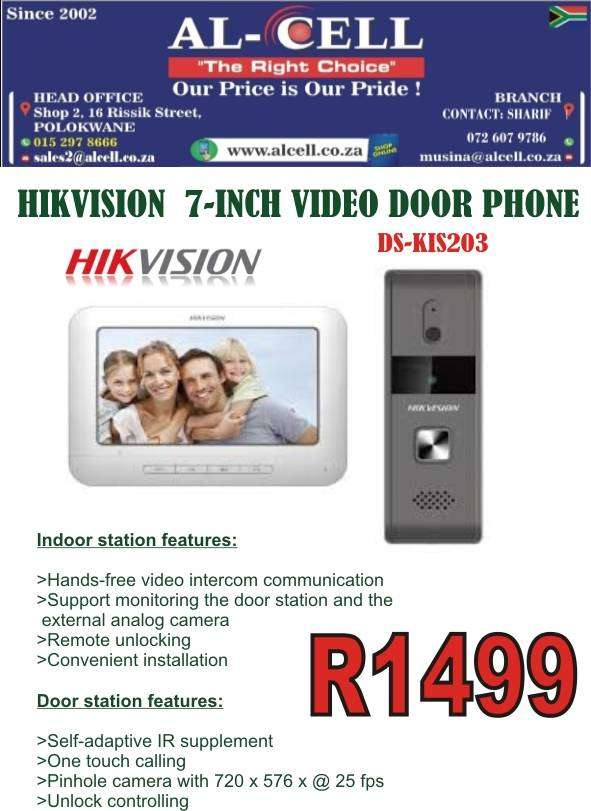 HIKVISION 7-INCH VIDEO DOOR PHONE DS-KIS203 0